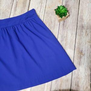 LOFT Sz 4 Blue Chiffon Tuxedo Skirt